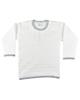 نیروان تی شرت آستین بلند نوزادی دخترانه کد 135 - سفید طوسی - نخ