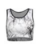 لباس زنانه نیم تنه ورزشی زنانه کد 130106 طوسی سفید - طرح دار