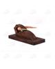 - مجسمه چوبی  رنگ قهوه ای طرح گاو  مدل1105900024