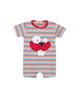 Fiorella سرهمی پسرانه نوزادی مدل fi-2014 - قرمز سرمه ای آبی - طرح راهراه