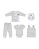 - ست 5 تکه لباس نوزادی پسرانه طوطی مارک مدل AZ-04