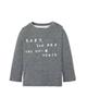 lupilu تی شرت آستین کوتاه نوزادی مدل YS001 - خاکستری با نوشته لاتین