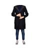 Baleno پالتو کلاهدار زنانه - سرمهای ساده - دارای دو جیب در درز پالتو
