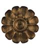 تندیس و پیکره شهریار کتیبه پلیاستر طرح گل لوتوس رنگ خاکستری-طلایی-مسی-برنز کد FG1330