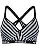 لباس زنانه نیم تنه ورزشی زنانه ماییلدا مدل 3521 - مشکی سفید - طرح راه راه