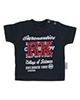 آدمک تی شرت نوزادی پسرانه مدل  143401N - سرمه ای سفید قرمز - نخ