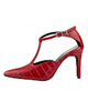 مارال چرم کفش پاشنه بلند زنانه مدل ناتالی516- قرمز-طرح ساده و کروکو -مجلسی