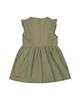 - پیراهن نوزادی دخترانه ماناپوش کد 1022 - سبز زیتونی