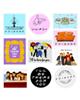 ماسا دیزاین استیکر لپ تاپ طرح Friends کد STL0162 مجموعه 10 عددی