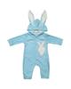 لباس نوزادی - سرهمی نوزادی طرح خرگوش کد M344 - آبی روشن