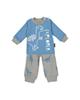 آدمک ست تی شرت و شلوارک پسرانه مدل 2171136-50- آبی طوسی -طرح دایناسور