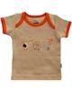 آدمک تی شرت آستین کوتاه نوزادی مدل Friends -نسکافه ای نارنجی -طرح دار