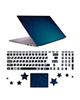 - استیکر لپ تاپ صالسو آرت مدل 5075 hk + برچسب حروف فارسی کیبورد