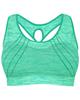لباس زنانه نیم تنه ورزشی زنانه کد 3245-3 - فیروزه ای - طرح دار
