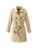 لباس زنانه پالتو زنانه چیبو کد 123 - کرم - دکمه دار
