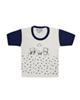 - تی شرت آستین کوتاه نوزادی مدل 988830NA - سفید سرمه ای