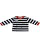 - ست لباس پسرانه تونگز مدل L1017B - سفید سرمه ای قرمز طوسی - نخ