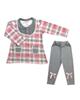 - ست تی شرت آستین بلند و شلوار نوزادی مدل پارمیس کد TB-G-AR