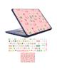 - استیکر لپ تاپ طرح فلامینگو کد01 به همراه برچسب حروف فارسی کیبورد