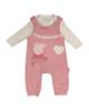مهتا ست تیشرت و سرهمی نوزادی دخترانه کد KHS_85001 - گلبهی