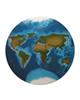- تابلو رزین طرح نقشه جهان کد WB2-02
