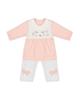 - ست پیراهن و شلوار نوزادی دخترانه بیبی طوطی مدل Az01 - گلبهی سفید