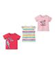 لباس نوزادی - تیشرت نوزادی دخترانه لوپیلو کد 4487 مجموعه سه عددی - چند رنگ