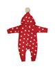 لباس نوزادی - سرهمی نوزادی طرح ستاره کد a60 - قرمز سفید