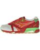 Diadora کفش مخصوص پیاده روی زنانه کد 1-6118 - طوسی روشن آجری نارنجی سبز