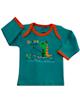 آدمک تی شرت آستین بلند نوزادی مدل Dinosaur - سبز تیره نارنجی