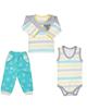 لباس نوزادی - ست ۳ تکه لباس نوزادی پسرانه طرح کوالا