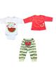 - ست 3 تکه لباس نوزادی دخترانه طرح هندوانه - سفیدقرمز سبز