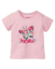 lupilu تی شرت نوزادی مدل Y003 - صورتی روشن - طرح پروانه - آستین کوتاه
