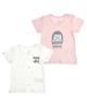 jikel تی شرت نوزادی مدل JK902108-13 مجموعه 2 عددی - صورتی - سفید