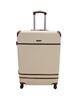 - چمدان پی کی کد B002 سایز بزرگ - کرم قهوه ای - پلی کربنات