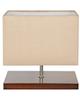 چشمه نور آباژور رومیزی مدل MT7022/BR-CR - مکعب کرم با پایه قهوه ای
