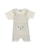 بی بی ناز ست سرهمی و تی شرت نوزادی مدل 1501492-0193 - سفید طوسی - راه راه
