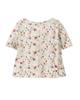 lupilu تی شرت نوزادی مدل 308639 - شیری - گل دار