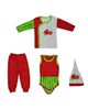 لباس نوزادی - ست 4 تکه لباس نوزادی طرح یلدا