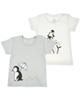 jikel تی شرت نوزادی مدل JK902008-92 مجموعه 2 عددی - سفید - طوسی