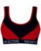 لباس زنانه نیم تنه ورزشی زنانه ماییلدا کد 3411-6 - قرمز مشکی