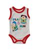 لباس نوزادی - بادی نوزادی طرح راگبی کد 01 - طوسی روشن قرمز