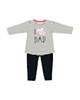 رابو ست تی شرت و شلوار نوزادی مدل 2051109-0159 - سفید مشکی - راه راه