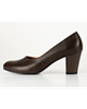 چرمیران کفش پاشنه بلند زنانه مدل  PW1016 - قهوهای -چرم طبیعی -طرح فلوتر