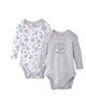 لباس نوزادی - بادی نوزادی لونی تونز کد Y23 مجموعه 2 عددی - طوسی سفید