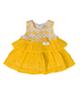 Fiorella پیراهن نوزادی مدل 21008 - زرد سفید - طرح گل