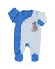آدمک سرهمی نوزادی پسرانه طرح خرس پشمالو کد 02 - آبی