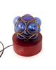 آرانیک آباژور چوبی آبی طرح حباب شیشه ای مدل 2217200006