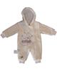 لباس نوزادی - سرهمی نوزادی کد 101 - کرم - طرح خرس