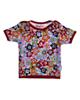 بی بی ناز تی شرت نخی طرح دار نوزادی دخترانه - گلدار رنگی شاد - آستین کوتاه